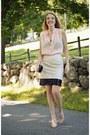 Black-bcbg-bag-nude-shoemint-heels-cream-banana-republic-skirt