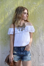 boyfriend jeans hollister shorts - necklace Forever 21 accessories - Target top