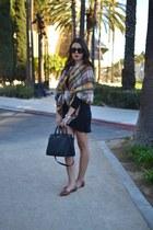Zara scarf - black Michael Kors bag - black Forever 21 top