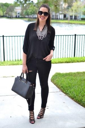 Forever 21 jeans - Lush shirt - Michael Kors purse - baublebar necklace