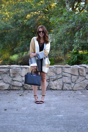 Forever 21 dress - Topshop sweater - Michael Kors bag - Karen Walker sunglasses
