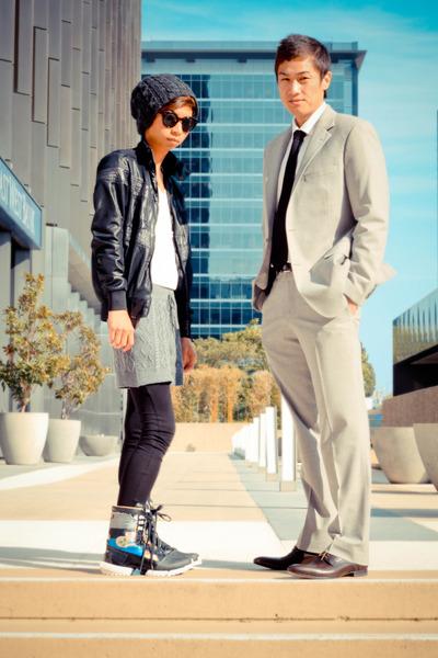 brown oxfords Paul Smith shoes - black warrior high Yohji Yamamoto boots