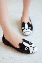 Street-chic Style Cute Cartoon Dog Print Flats