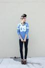 Leather-unknown-shoes-navy-leggings-levis-jeans-blue-cotton-c-a-t-shirt
