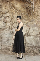 black black unknown brand shoes - black black lace vintage dress