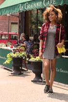 Aldo shoes - cotton H&M dress - yellow satchel Accessorize bag