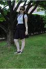 Black-forever-21-vest-black-urban-outfitters-skirt-white-shirt