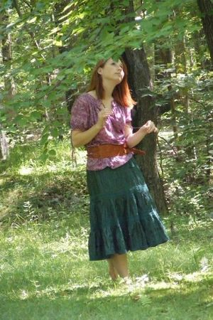 thrifted top - thrifted skirt - borrowed belt