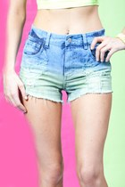 Urban Decay Neon Ombre Cut-off Shorts