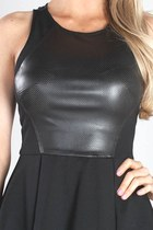 Leather Peplum Lush Tops