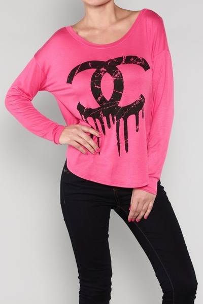 dripping chanel t-shirt