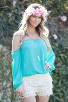 Jade Chiffon Off Shoulder Top