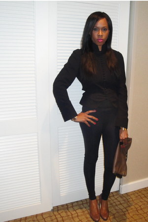 tux Zara blazer - Ralph Lauren shoes - black Zara tights