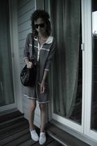 H&M shirt - purse - glasses - H&M shoes