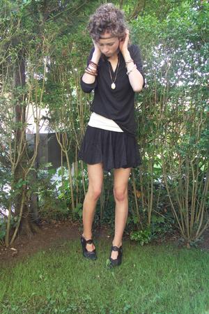 H&M shirt - skirt - Think shoes
