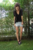 Mango shirt - H&M jacket - shorts - Think shoes