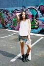 Jean-free-people-skirt-black-report-boots-silver-cuff-john-hardy-bracelet