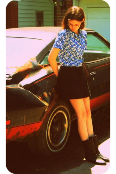 vintage blouse - SO skirt - Flings shoes
