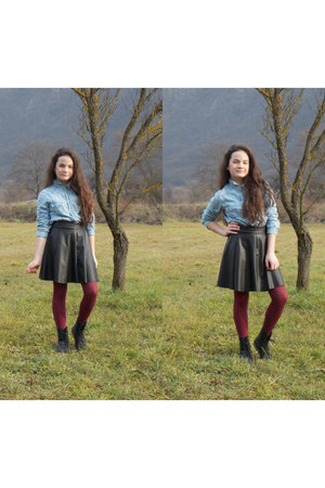 dark gray random brand skirt - dark gray Tally Weijl boots