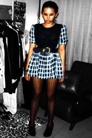 black flea market dress