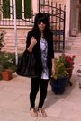 Black-helmut-lang-blazer-black-zara-leggings-black-diane-von-furstenberg-sho