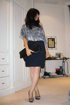 skirt - shoes - top - purse