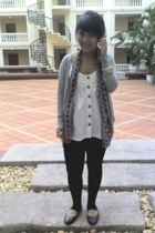 supre leggings - cotton on scarf - forever 21 jacket - cotton on top - cotton on
