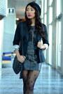 Cotton-tiebreak-tees-t-shirt-h-m-blazer-pleather-forever21-skirt