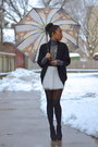 Black-wool-urban-outfitters-sweater-charcoal-gray-turtleneck-danier-sweater