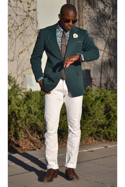 Collection Dark Green Blazer Pictures - Reikian