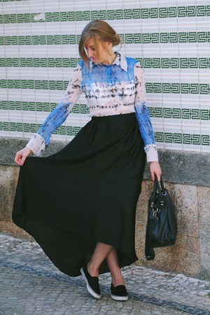 black River Island skirt - blue madeleine uk skirt - Pull & Bear shoes