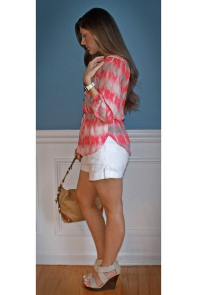 deee1be434a coach bag - Old Navy shorts - Michael Kors watch - alloy wedges