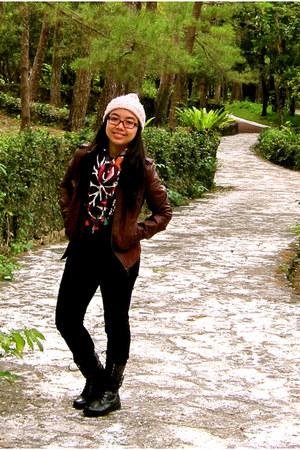 Zara hat - Terranova jacket - Promod scarf