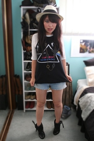 Retrostar t-shirt - bardot hat - Sportsgirl necklace - Target boots - thrifted s
