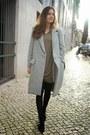 Black-uterque-boots-camel-zara-dress-silver-uterque-coat-black-uterque-bag