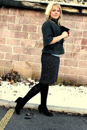 black textured tights vera wang tights