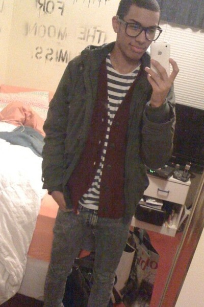 919cd2bb05 H M jacket - abercrombie and fitch cardigan - H M shirt - Urban Outfitters  jeans