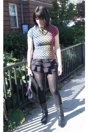 Urban Outfitters shorts - vintage boots - vintage bag - vintage David Yurman nec