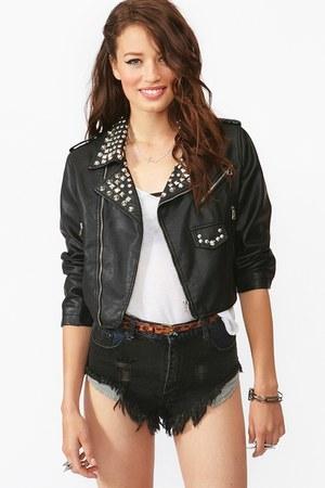 Nasty Gal jacket - Nasty Gal shorts - Nastu Gal blouse