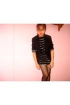 g2000 blazer - stockings - Mango dress