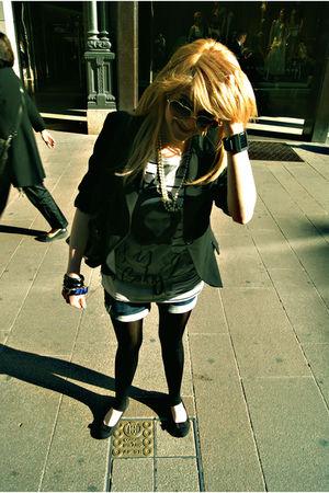Zara blouse - Stradivarius shorts - blazer