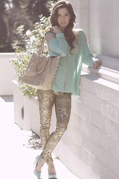 mint H&M blouse