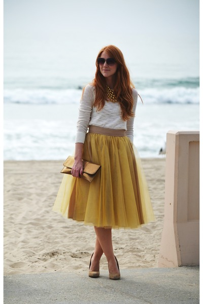 tulle eShakti skirt - Mossimo sweater - Aldo pumps