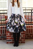 midi style moi skirt - blouse style moi shirt - fleece lined Target tights