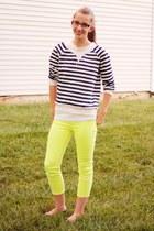 neon Target jeans - stripes Boscovs shirt - black Target flats