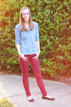 chambray Old Navy shirt - ballet flats Target shoes - skinny jeans Macys jeans