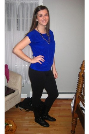 Forever 21 shirt - Express leggings - boots - necklace