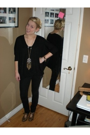 f21 shirt - Joes Jeans jeans - f21 necklace - Chloe shoes
