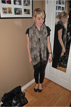 shirt - Topshop jeans - H&M scarf - Anne Jordan shoes