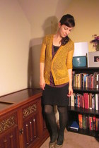 mustard Rodarte for Target cardigan - dark gray leopard print Target tights